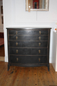 Ebonised chest with graduated drawers, French c1950 - picture 2