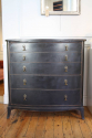 Ebonised chest with graduated drawers, French c1950 - picture 3