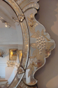 Superb C19th Venetian mirror with etched detail of grapes and fruit - picture 2