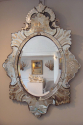 Superb C19th Venetian mirror with etched detail of grapes and fruit - picture 5