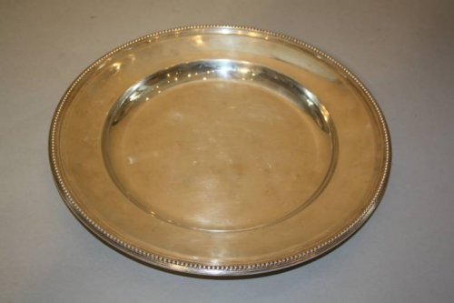 A Christofle Circular Serving Plate