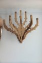 A pair of twelve branch carved walnut wall candelarbra - picture 1