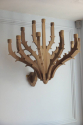 A pair of twelve branch carved walnut wall candelarbra - picture 2