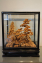 20thC Chinese carved wooden model of house and landscape - picture 2