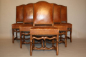 A set of 6 tan leather Os de Mouton dining chairs - picture 2
