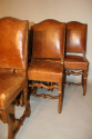 A set of 6 tan leather Os de Mouton dining chairs - picture 4