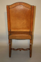 A set of 6 tan leather Os de Mouton dining chairs - picture 5
