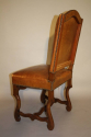 A set of 6 tan leather Os de Mouton dining chairs - picture 6
