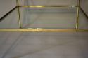 A pair of brass and glass two tier side tables - picture 5