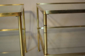 A pair of brass and glass two tier side tables - picture 6
