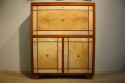 Italian 1950`s fruitwood and parchment cabinet - picture 1