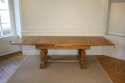 Wooden parquet extending dining table. French - picture 7