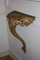Antique carved giltwood wall console, French c1900 - picture 3