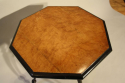 A pair of ebonised and birds eye maple, octagonal tripod tables, c1870 - picture 6