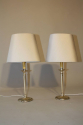 A pair of silver candlestick table lights. French c1950 - picture 1