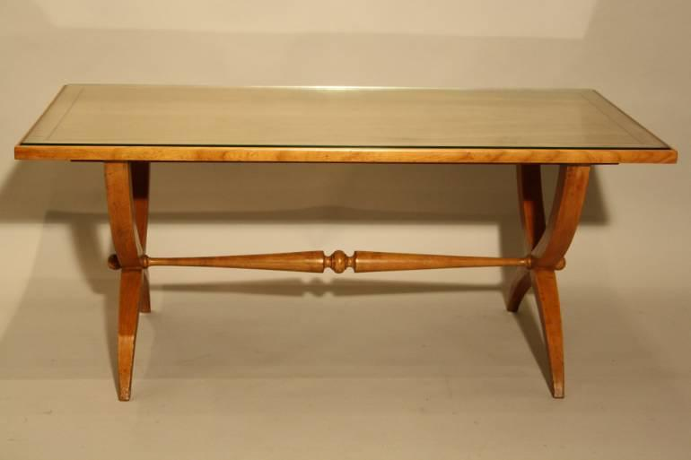 Vintage French 1950`s Sycamore coffee/side table.