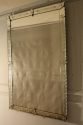 C19th rectangular French Venetian mirror with etched floral details. - picture 1