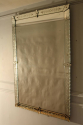 C19th rectangular French Venetian mirror with etched floral details. - picture 2
