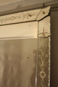 C19th rectangular French Venetian mirror with etched floral details. - picture 3