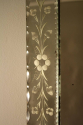 C19th rectangular French Venetian mirror with etched floral details. - picture 5