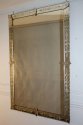 C19th rectangular French Venetian mirror with etched floral details. - picture 6