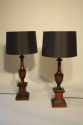 Wood urn shaped table lamps - picture 2