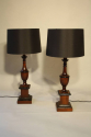 Wood urn shaped table lamps - picture 3