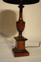 Wood urn shaped table lamps - picture 4