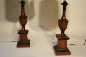 Wood urn shaped table lamps - picture 5