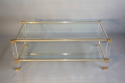 A lucite framed and glass two tier coffee table - picture 1