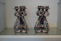 A pair of Vallauris grotto candlesticks, French c1960 - picture 1