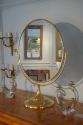 Large gold metal dressing table mirror, French, c1970 - picture 1