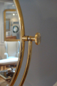 Large gold metal dressing table mirror, French, c1970 - picture 3