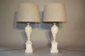 French 1960`s marble table lamps - picture 1