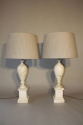 French 1960`s marble table lamps - picture 2