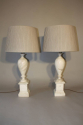 French 1960`s marble table lamps - picture 4