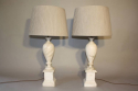 French 1960`s marble table lamps - picture 5