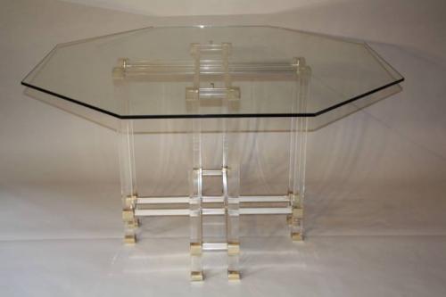 Pierre Vandel octagonal dining table