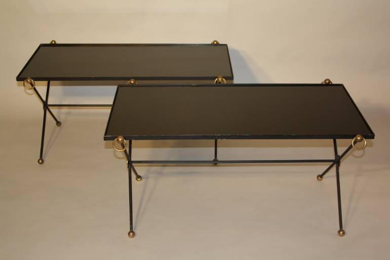 A Pair of 1950`s Vitrolite Glass Tables