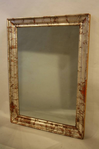 Silver and red mirror