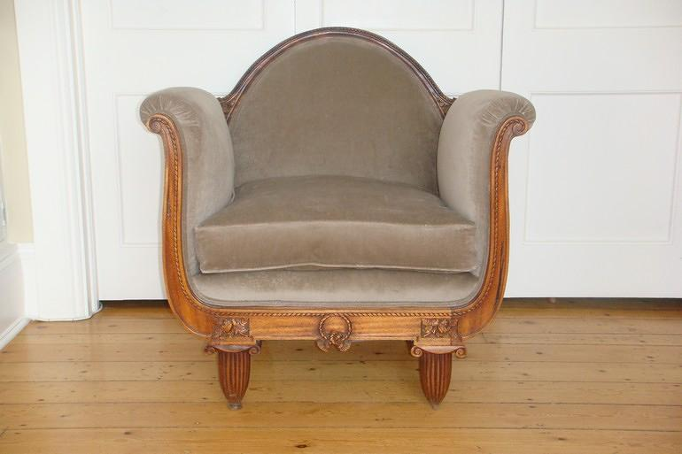 French antique armchair, Art Deco c 1940