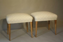 Walnut and spotty stools - picture 1