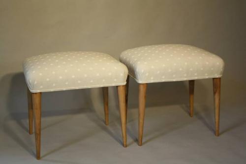 Walnut and spotty stools
