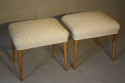 Walnut and spotty stools - picture 3