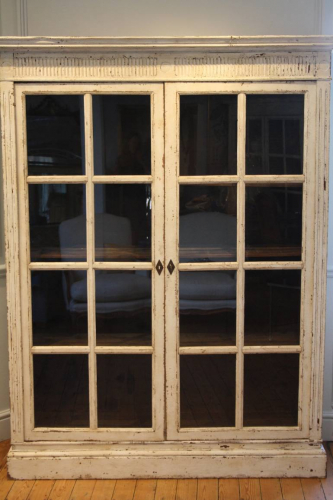 A pair of French Antique cabinets/bookcases