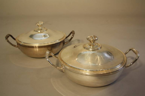 A pair of Christofle Vegetable Tureens