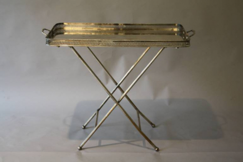 Silver tray table