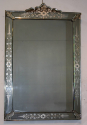 A beautifully etched antique portrait Venetian mirror, C19th - picture 1