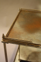 Two tier silver metal and mirror side table, French c1950 - picture 4