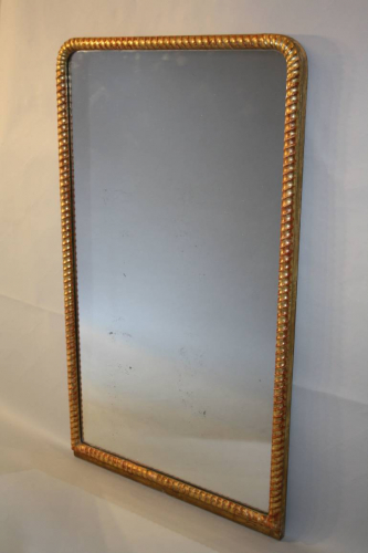 C19th rope twist arch top overmantle